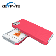 anti-slip dual layer hybrid impact shockproof rubber phone case for iphone 7