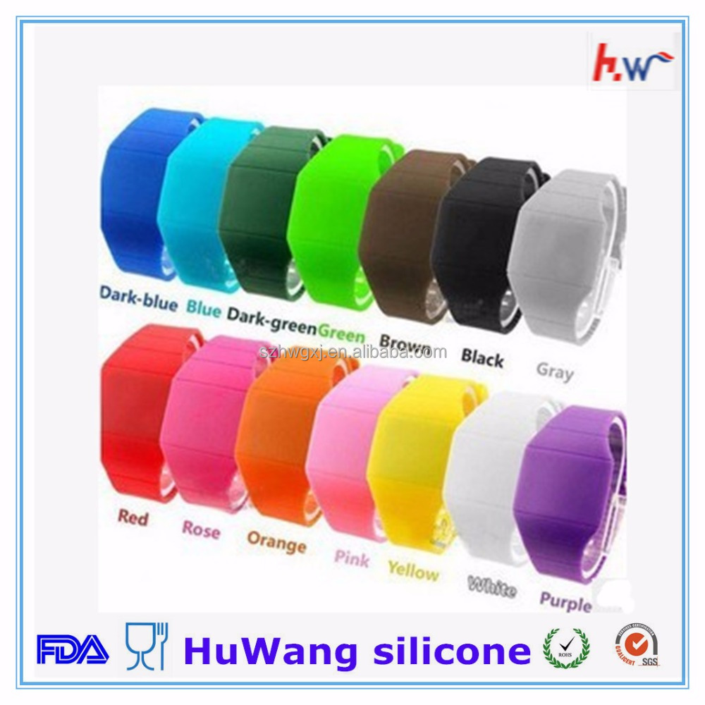 Free sample cheap silicone led wrist watch with custom logo