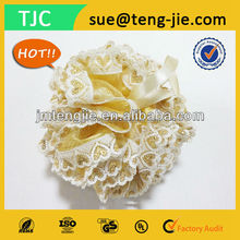 Romantic&Beautiful Golden Color Lace Exfoliating Puff Body Polishing Sponge