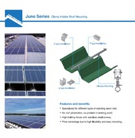 Juno Series Solar Mounting Racks for Standing Seam Metal Roofs