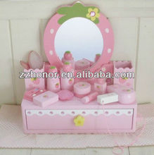 Mother garden wooden toys, strawberry beauty dresser wooden toys