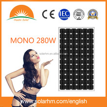 HOT SALE 280W MONO crystalline solar panel solar module with CE TUV EL test for solar system