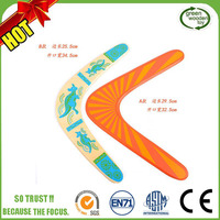 Wholesale Promotional Colorful Timber Returning Kids Wooden Boomerang