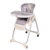 folding deluxe pvc leather baby high chair