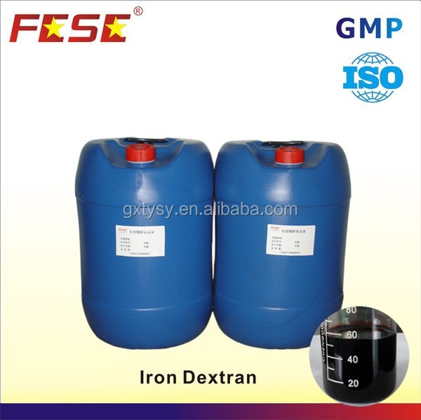 Raw material weight gain tonic liquid iron dextran injection b12