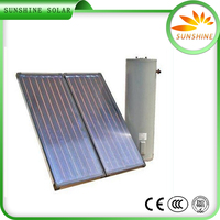 Hot Sale Unpressurized Rooftop Home Solar Systems Split Copper Tube Solar Collector