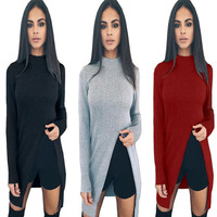 ZH0560L Fashion winter clothes for women turtleneck women Long sweater