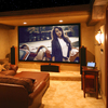 home theater 120 inch rear film projection screen fabric