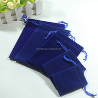 Best Selling Royal Blue Assorted Sizes Velvet Drawstring Jewelry Bag