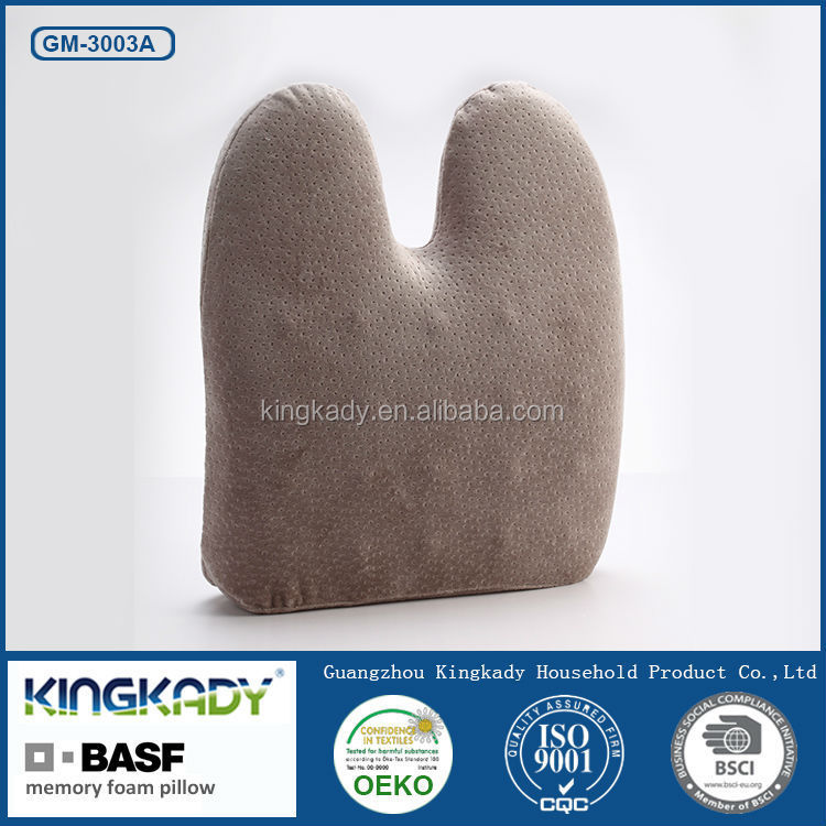 KINGKADY Cheap Wholesale Body Protecting Waist Care Car Office Memory Foam Bamboo Massage Cushions Pillow