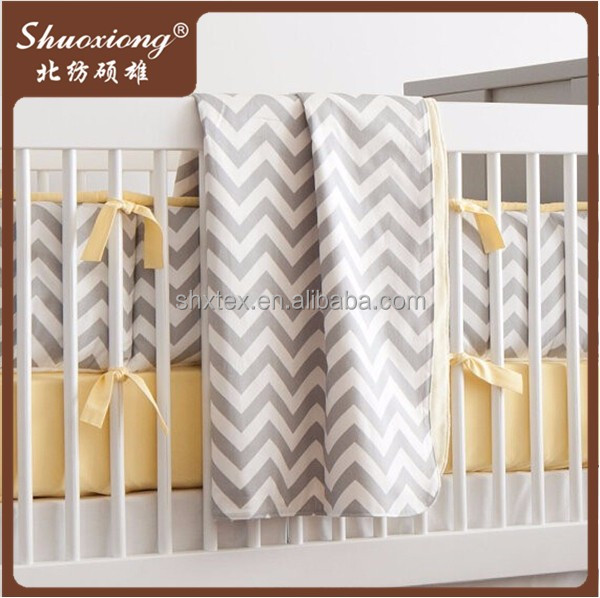 100% cotton baby cot bedding set with good quality