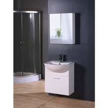 Knock Down PVC Foil Faced MDF Bathroom Furniture, Bathroom Vanity