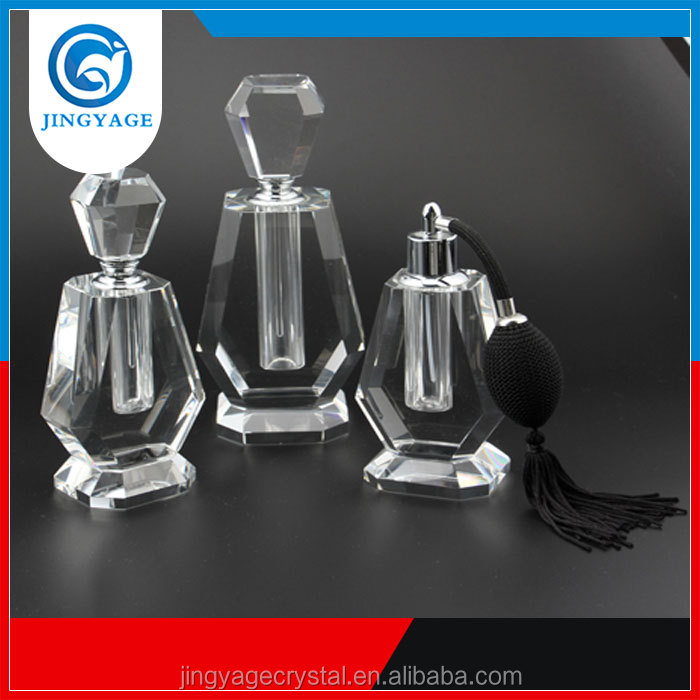 Jingyage wholesale empty perfume bottles crystal vintage perfume bottle and lady 3ml crystal perfume bottle gifts
