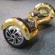 hoverboard gold 8 inch bike board Chrome style self balancing electric scooter 2 wheels original wholesale from coowalk