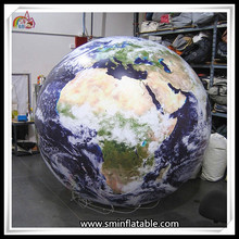 Custom Inflatbale Earth World Globe Sky Ball Helium Planet For Solar System Air Balloon