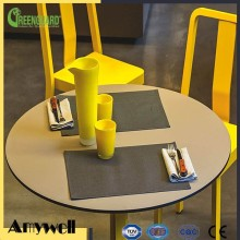 Amywell 10 years warranty durable solid phenolic resin restaurant table tops