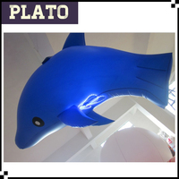 Custom inflatable Hanging Dolphine,Inflatable Ocean Animal for Theme Park Decoration