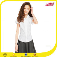 British Style Blouse for Colleage Students Fashion Casual Tops Polo Neckline School Uniform