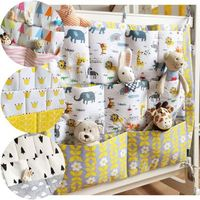Zogifts Baby crib hanging organizer bag baby bed side storage bag with compartment