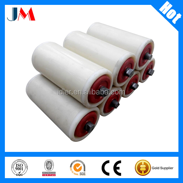Industrial Nylon Conveyor belt tension Idler roller for construction concrete