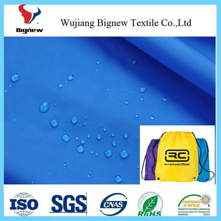 210d polyester oxford fabric for cheap custom drawstring bags no minimum