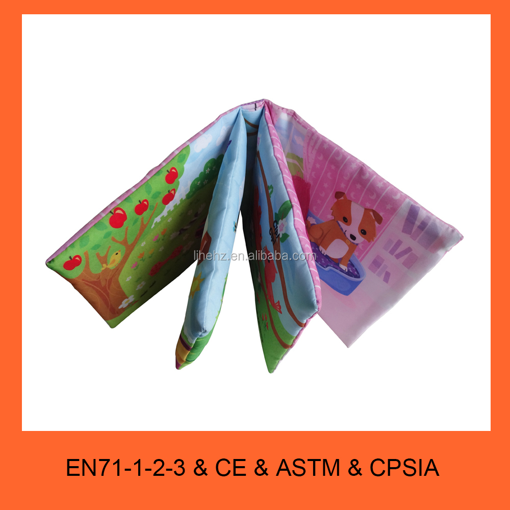 Top Quality Cloth Book Custom OEM Children and Kids Soft Cloth Fabric Educational Learning Book Manufacturing Service