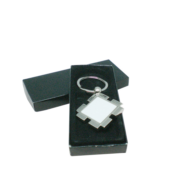 Christmas Gift Souvenir Decoration Simple Connecting Sublimation Blank Metal Key Ring (A87)