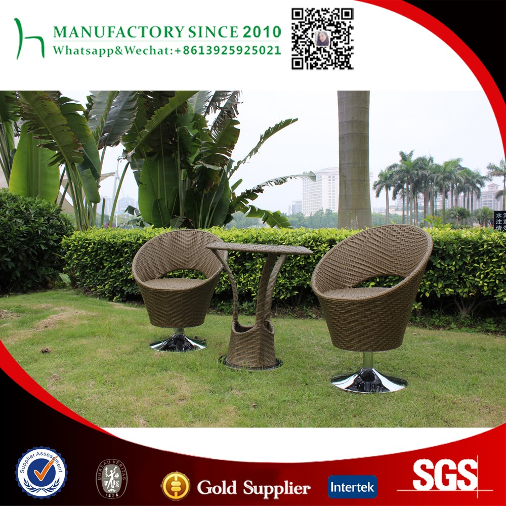 PE rattan outdoor bar furniture bar table and chair steel bar