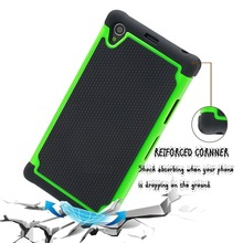 Whosale Heavy Duty Rubber Bumper Case Cover For Sony Xperia Z1