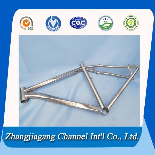 Welded metal titanium tubes for bicycle frames