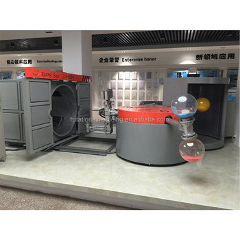 Rotomoulded machine for producing fan cover plastic shell for fan