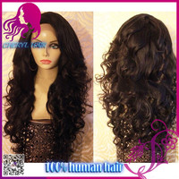 "Cheryl Factory Free Style For Black Women 26"" Hand Made Wig Top Grade Brazilian Virgin Hair Full Lace Human Hair Wigs fast ship"