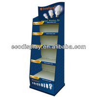 2014 ECO Bulb rack of Cardboard Display Rack for Promotion Supermarket