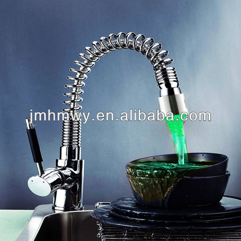 cheap bathroom faucets/kitchen faucets with led light