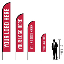 Free Standing Advertising Promotion Feather Flag Pole