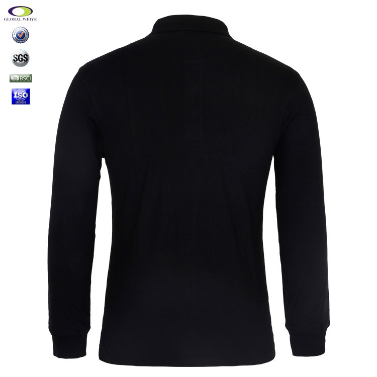 Cheap wholesale mens long sleeve polo t shirt with for Cheap embroidered t shirts