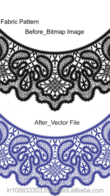 Image to Vector Drawing for Logo, Fabric Pattern, Photo