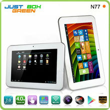 Fast Shipping Sanei N77 Tablet PC 7 Inch Capacitive 5 points Touch Android 4.0 1.0GHz Allwinner A13 Wifi Camera