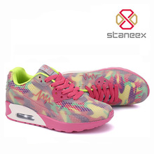 2016 Spring Summer Breathable <strong>Air</strong> Mesh Casual Shoes for Women Shock Absorption Comfortable Mixed Colors Casual Women Flats