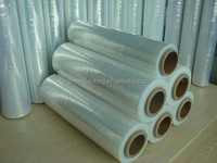 one year guarantee pvc stretch film english blue film