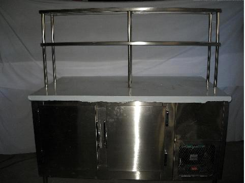 Preparation Table with Overshelf