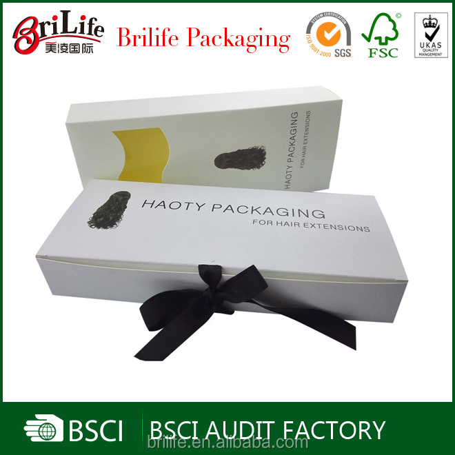 Custom printing packaging box for hair extension