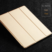 genuine leather tablet case for apple ipad2/3/4 pu leather sleeves case for sale
