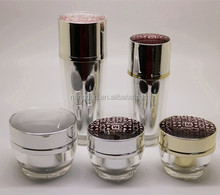 40-100ml Acrylic lotion bottles and 15-30g cosmetic jar set