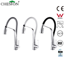 China good quality pull out single handle upc brass kitchen faucet