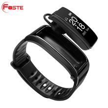 Foste* 2 in 1 Y3 <strong>Smart</strong> Talk Band Fitness Tracker <strong>Smart</strong> sport Bracelet With BT Earphone For Android and IOS <strong>Smart</strong> <strong>Watch</strong> Band Y3