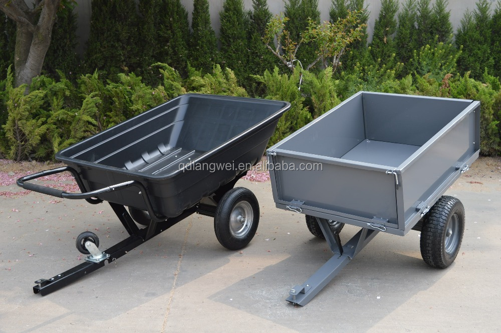 CE certificate two wheels plastic garden trailer