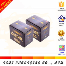 black color printed top grade folding 300 gsm paper box packaging for ink packing