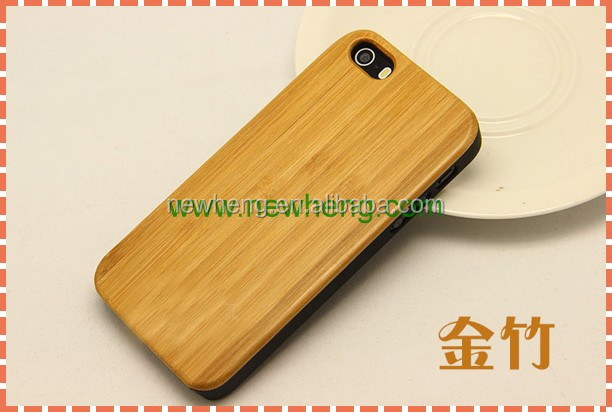 Genuine thick wood and PC case for iPhone 5 wood case