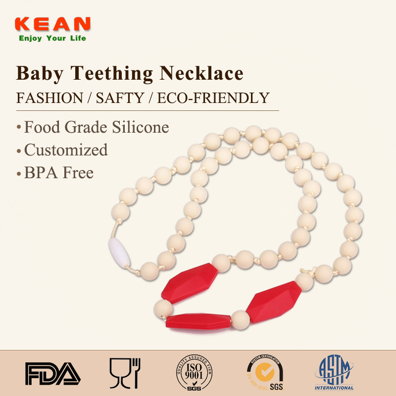 Latest Design Beads Necklace silicone necklace chewfor kids